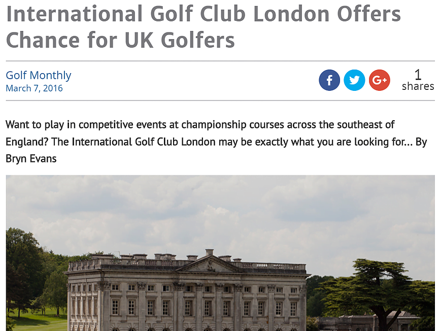 IGC London in Golf Monthly