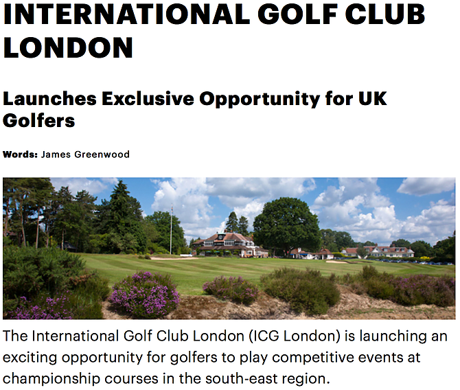 IGC London on Golf Punk